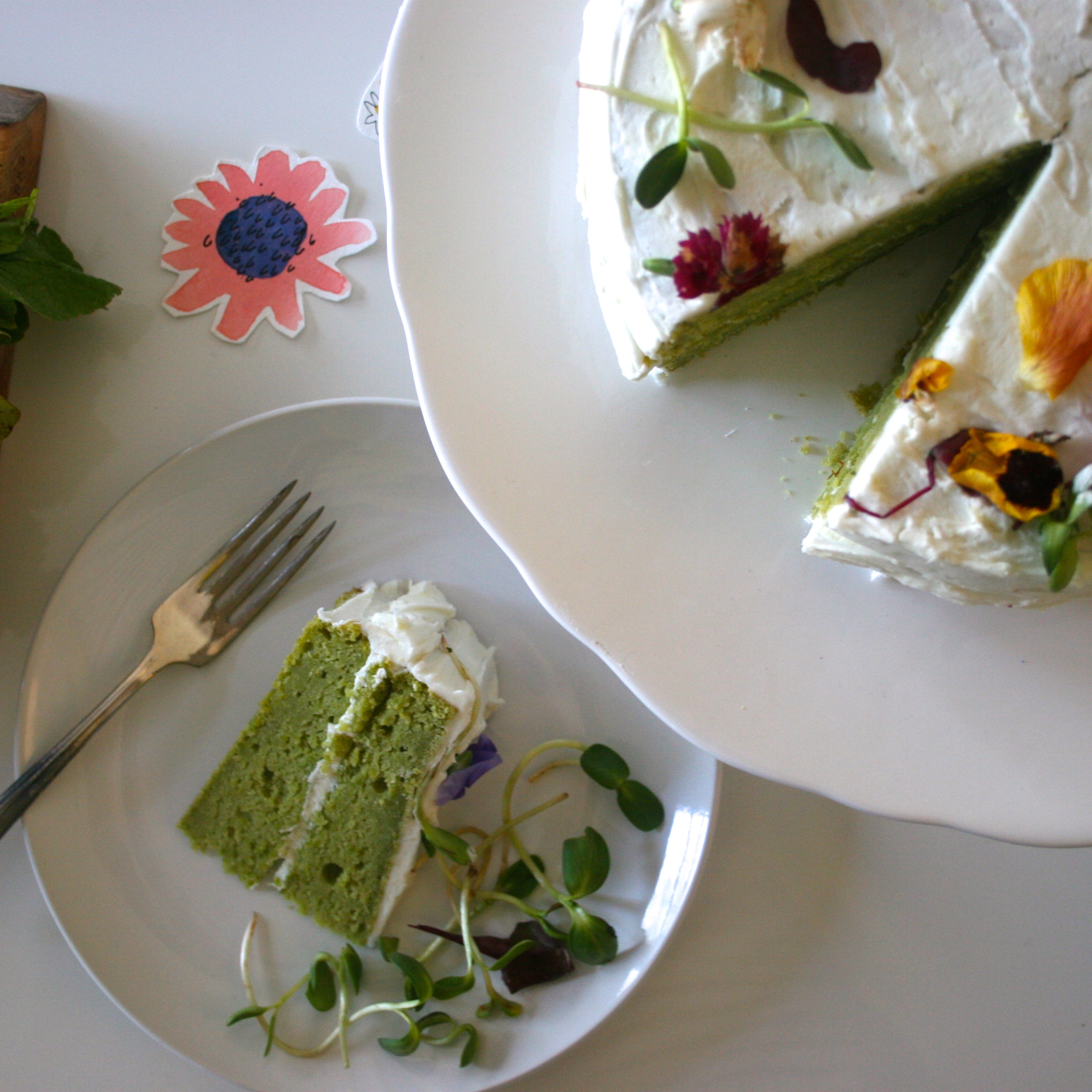 sweet pea cake, photo by Emily Hilliard