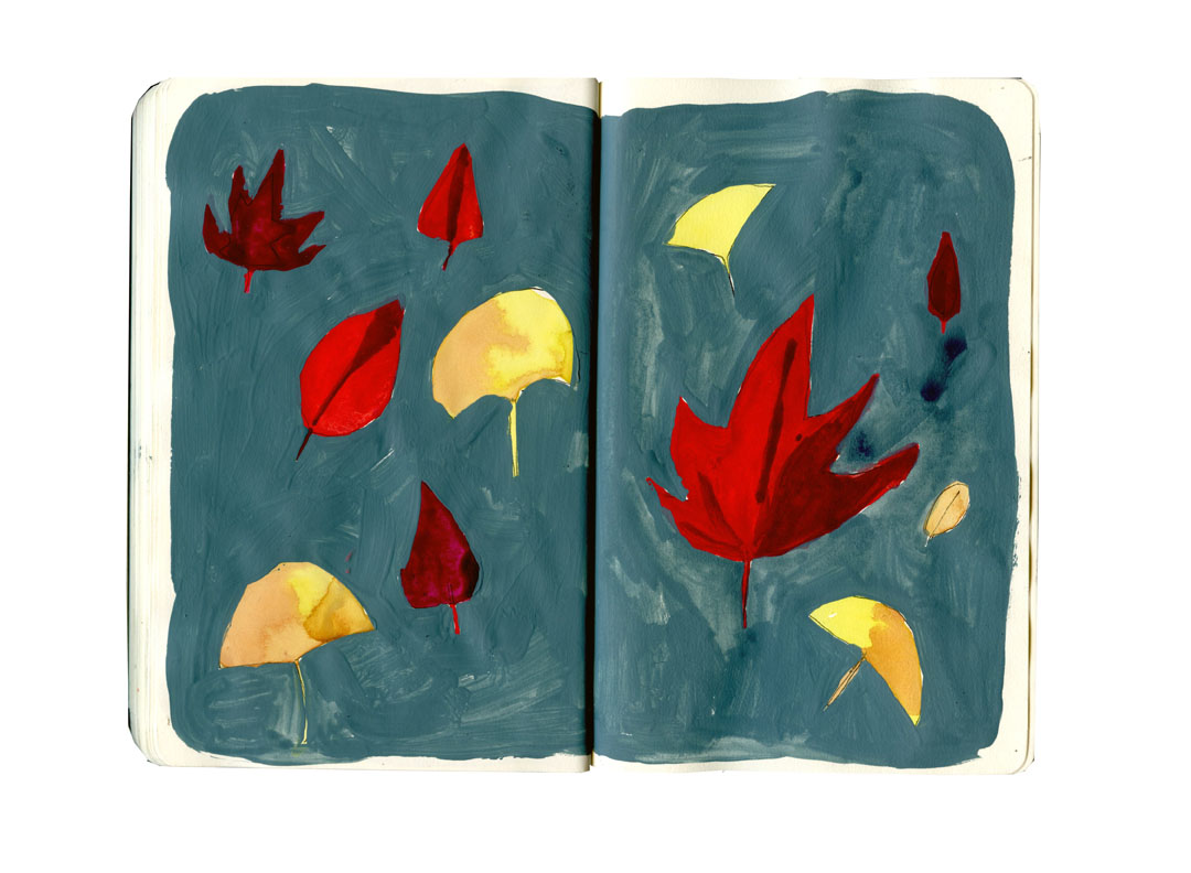 fall leaves sketchbook3