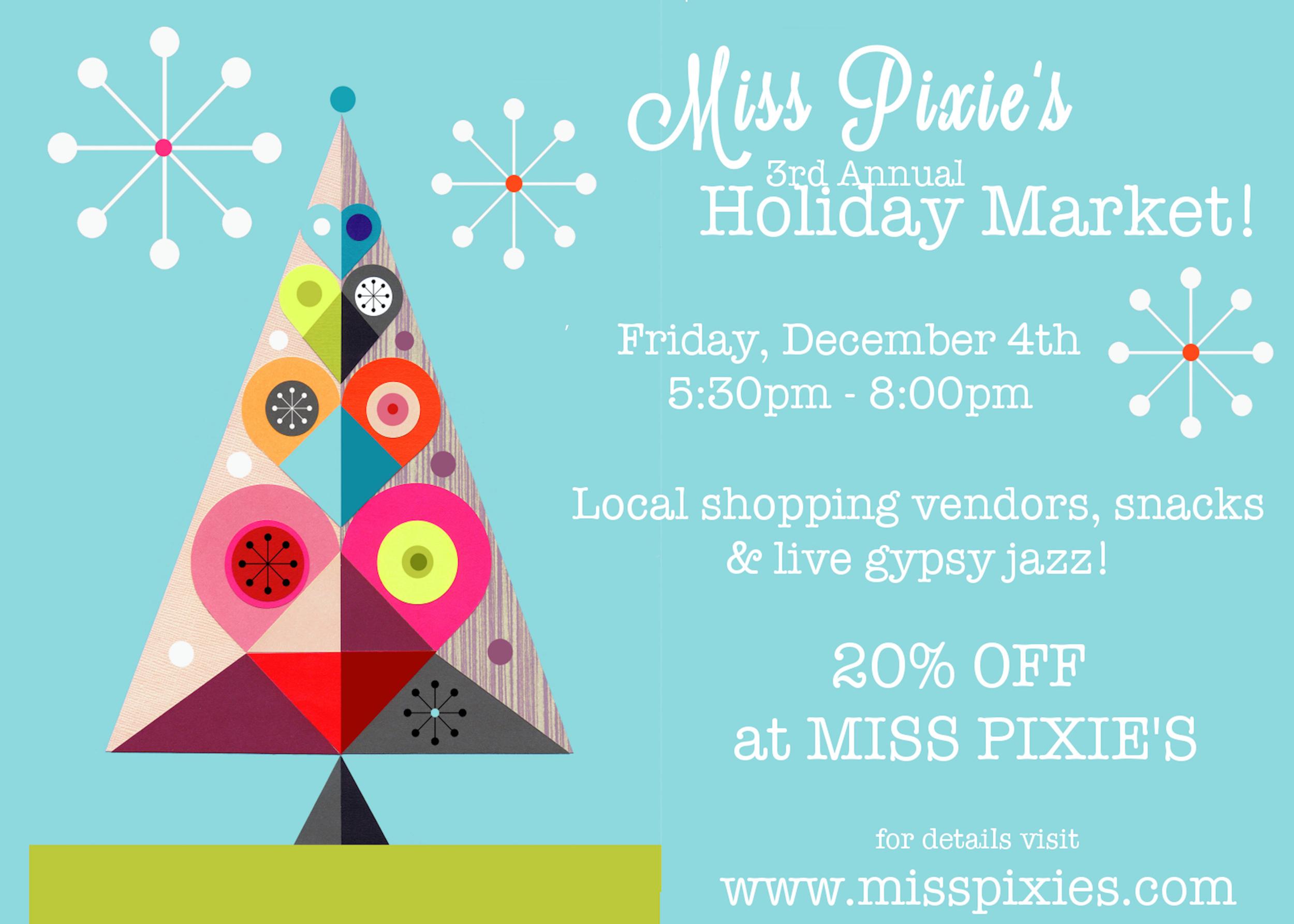 Miss Pixies flyer