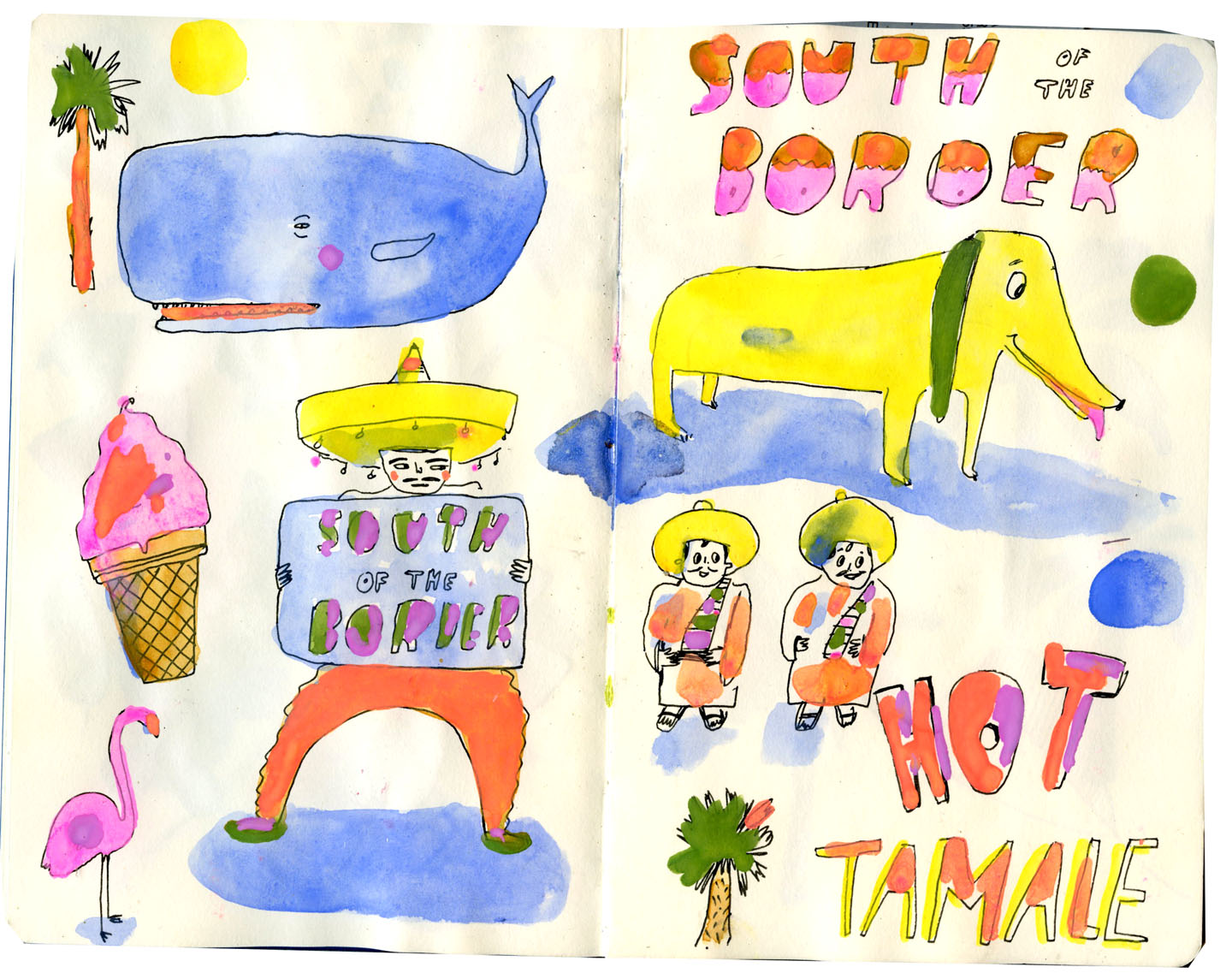 Souther of the Border sketchbook