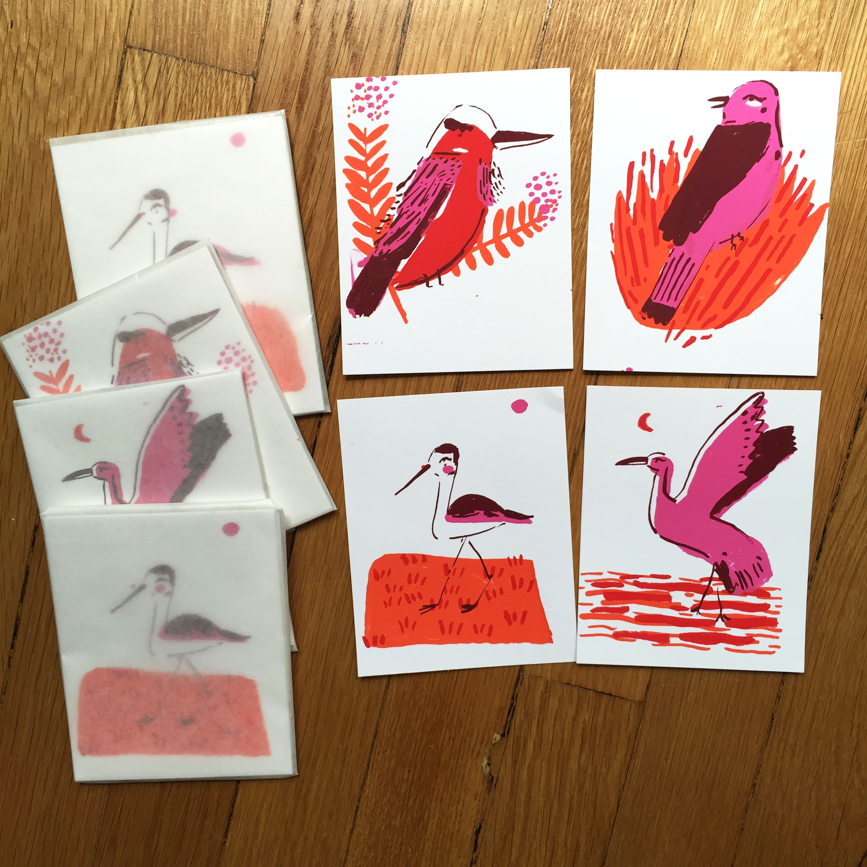 bird screen prints