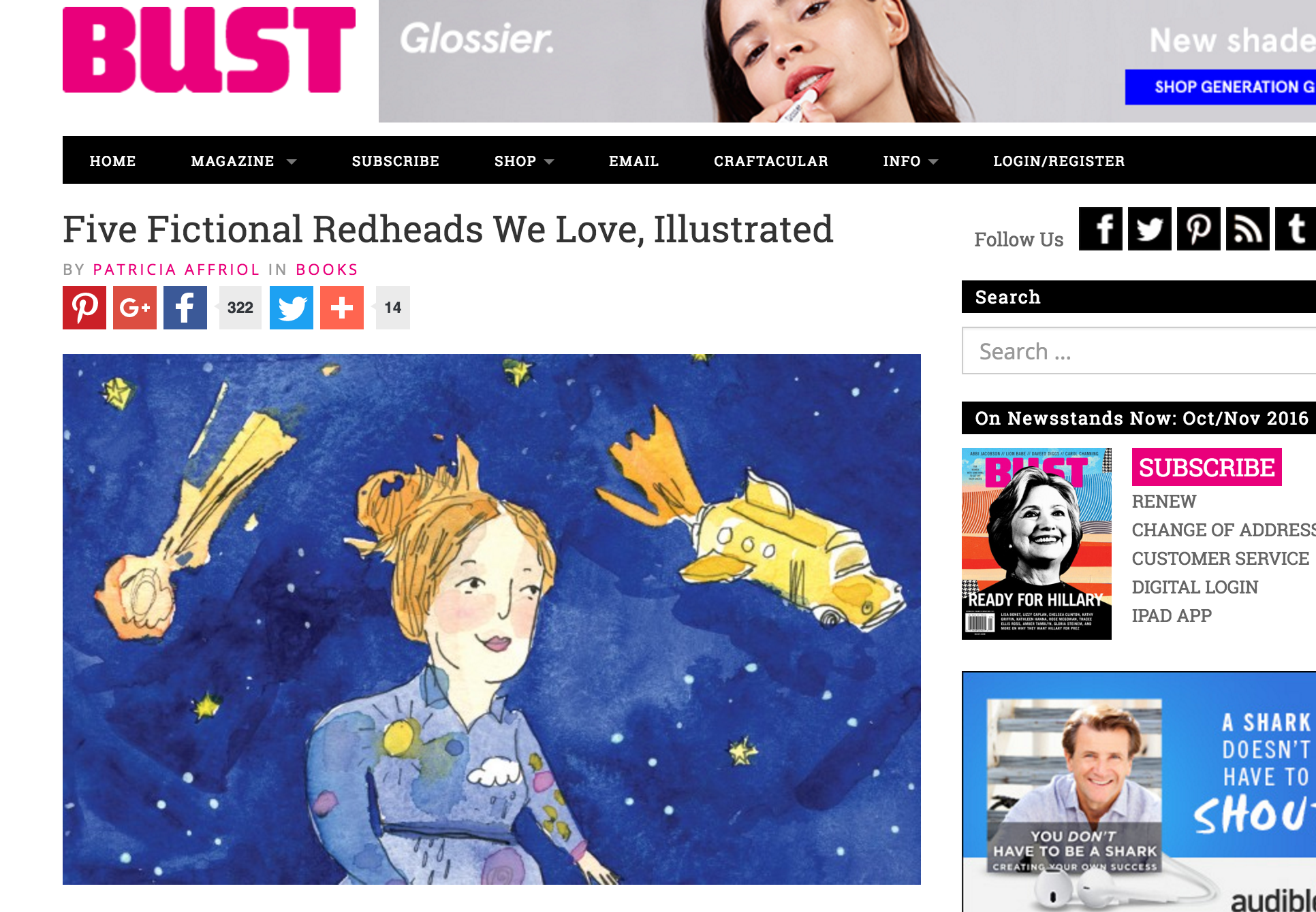 A review of A Field Guide to Redheads in BUST Magazine