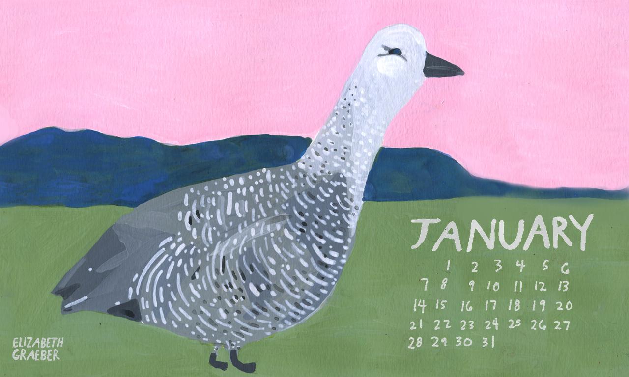 Desktop calendar for January, download  here !