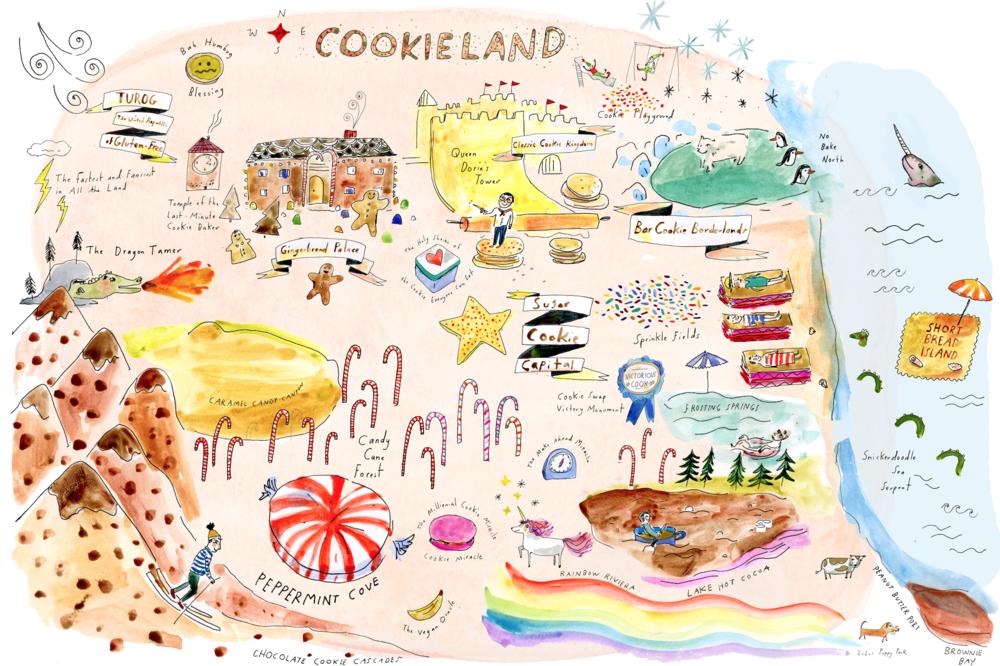 Cookieland map