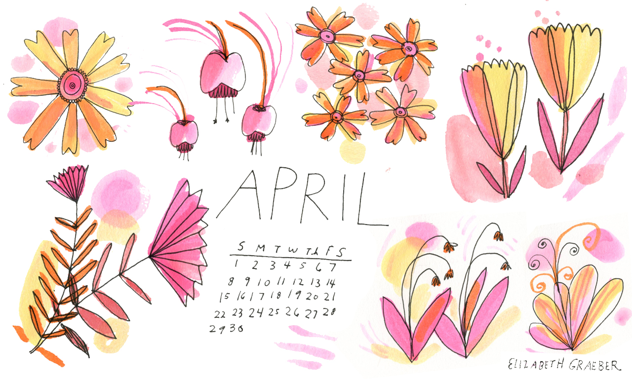 April desktop calendar available to download  here