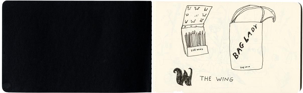 wing sketchbook