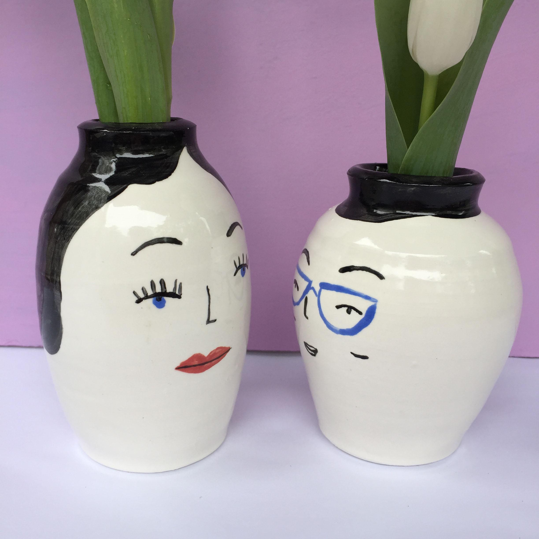 Ceramics face pair