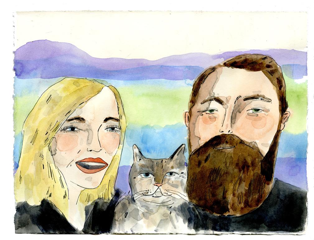 Katie and Eric portrait