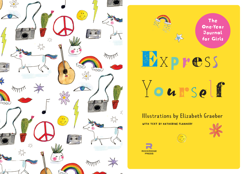 Illustrations for the book   Express Yourself: The One-Year Journal for Girls
