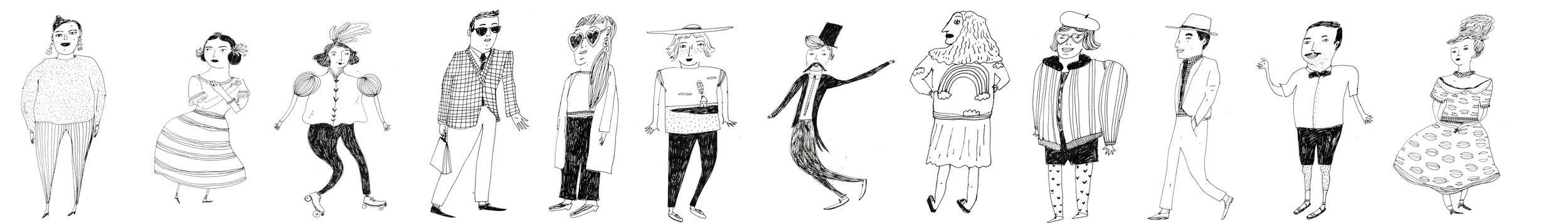 stylish people illustration
