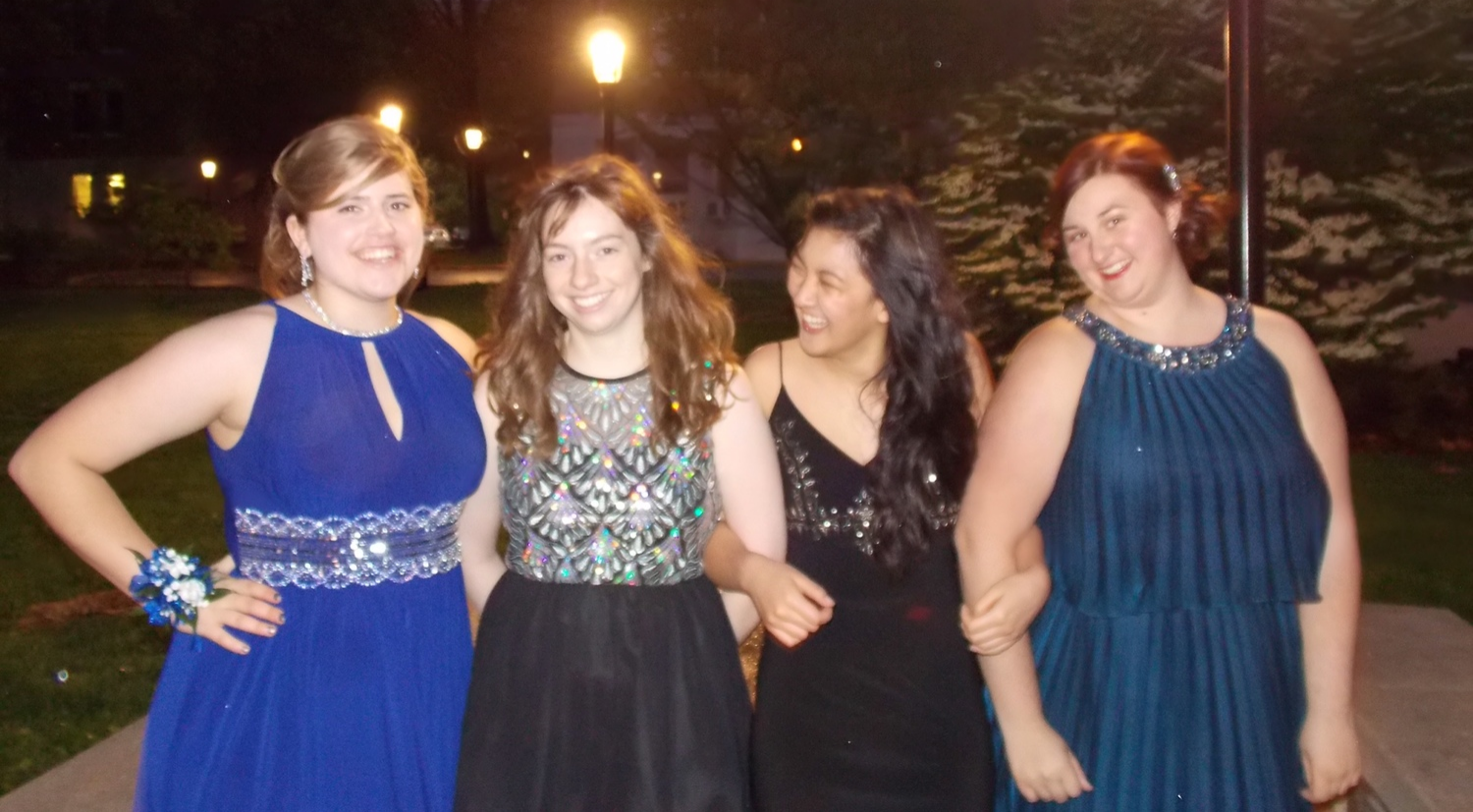 Prom was a success! Here's 4/5 of our young reporting team!