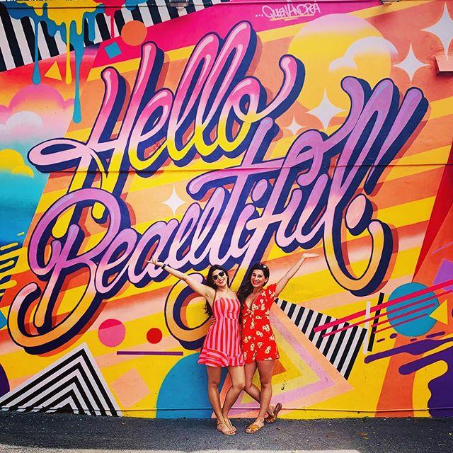 This life is so much more beautiful & joyous with you by my side @sahuja9 ❤️!! • • • • #mia #wynwoodwalls #wynwoodmiami #streetartmia #miami #southbeach #art #travel #traveldairies #travelartjournal #love #inspire #create #wanderlust #motivate #streetart #illustration #watercolor #painting #ceramics #muralart #murals #jj #illustrator #mua #bff #sistersister