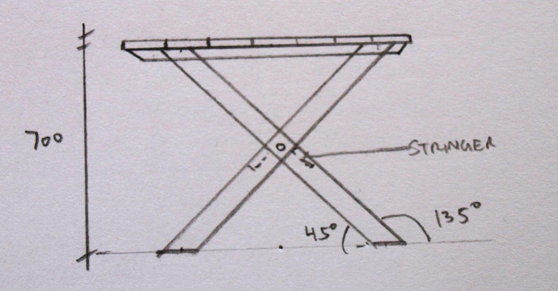 Table Base Elevation Sketch