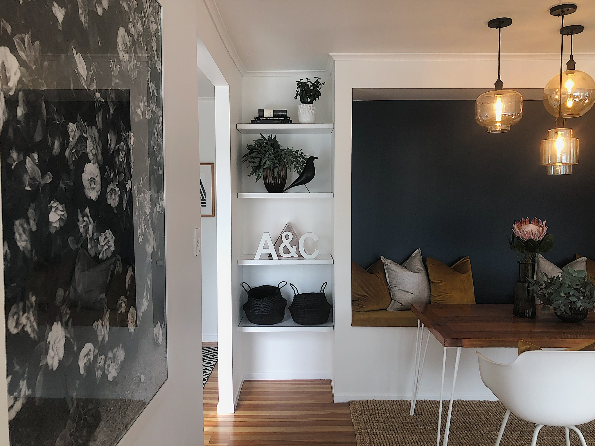 Pearson and Projects Relocatable Reno Dining Project Reveal Flower Cushions Mid Century.jpg