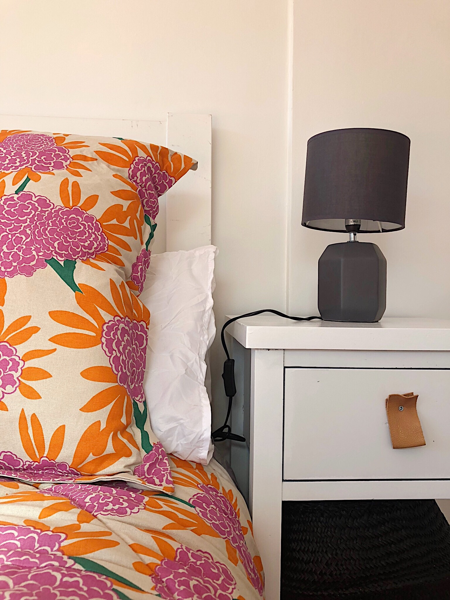 Pearson + Projects The Expert Reveal Bedroom Simple Quilt Flowers DIY Side Table.jpg
