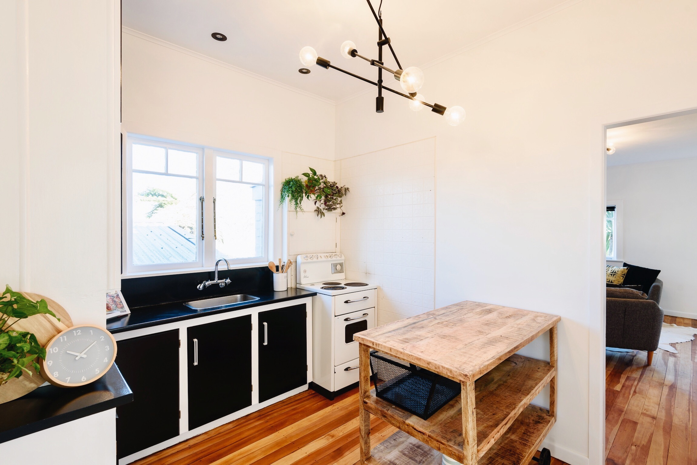 Pearson + Projects The Expert Reveal Budget Kitchen Makeover Wooden Kitchen Trolley Black Lights.jpg
