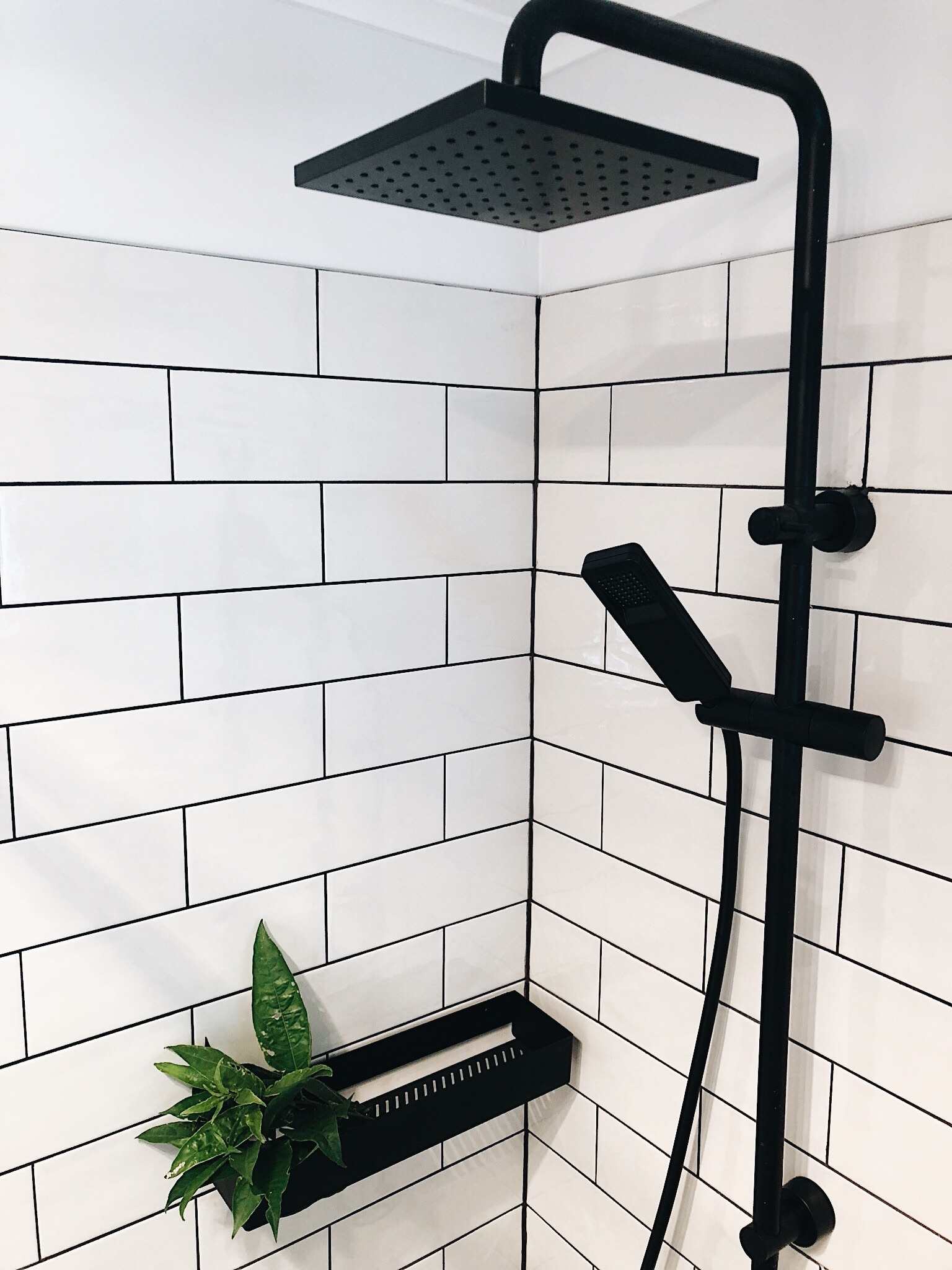 Pearson + Project The Reno Race The Rookies Bathroom Monochrome Clark Shower Rail Subway Tiles Black Matt Shelf.jpg
