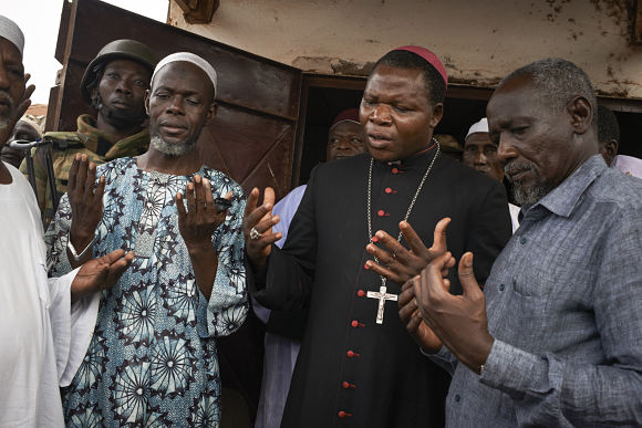 Archbishop Dieudonne Nzapalainga and Imam Omour Kobine of Bangui