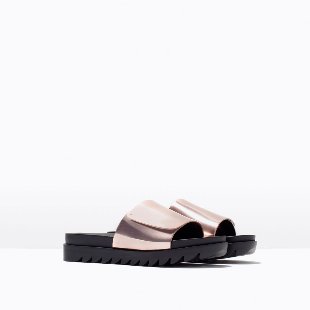 rose gold slides zara