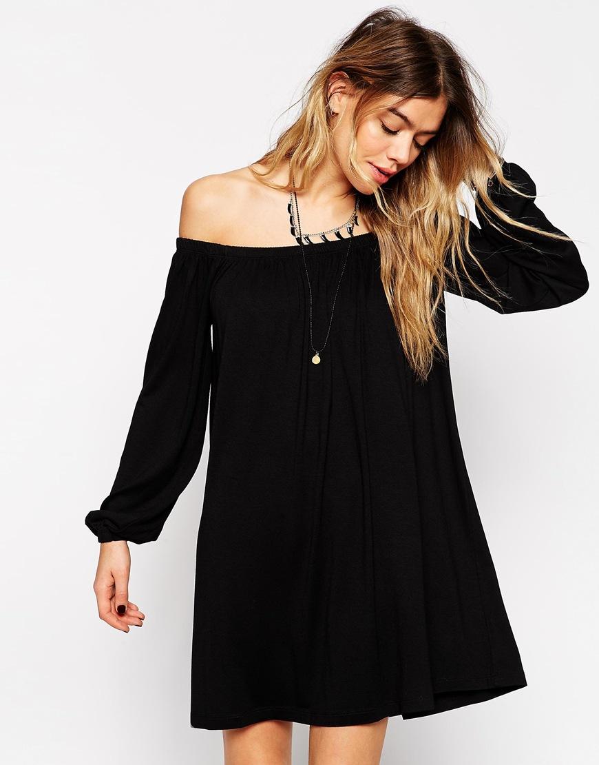 off shoulder dress asos