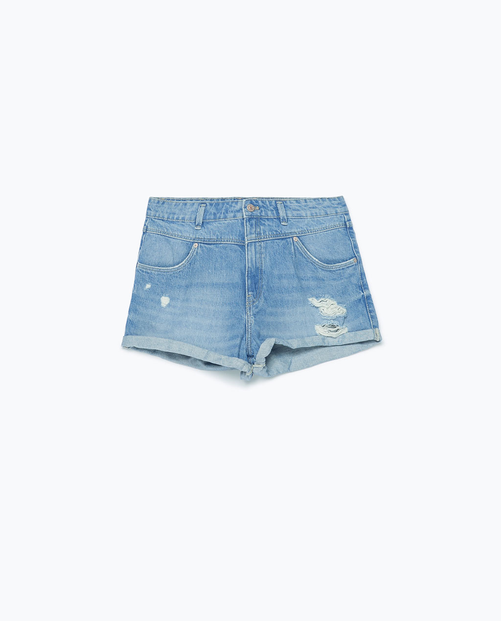 denim zara shorts