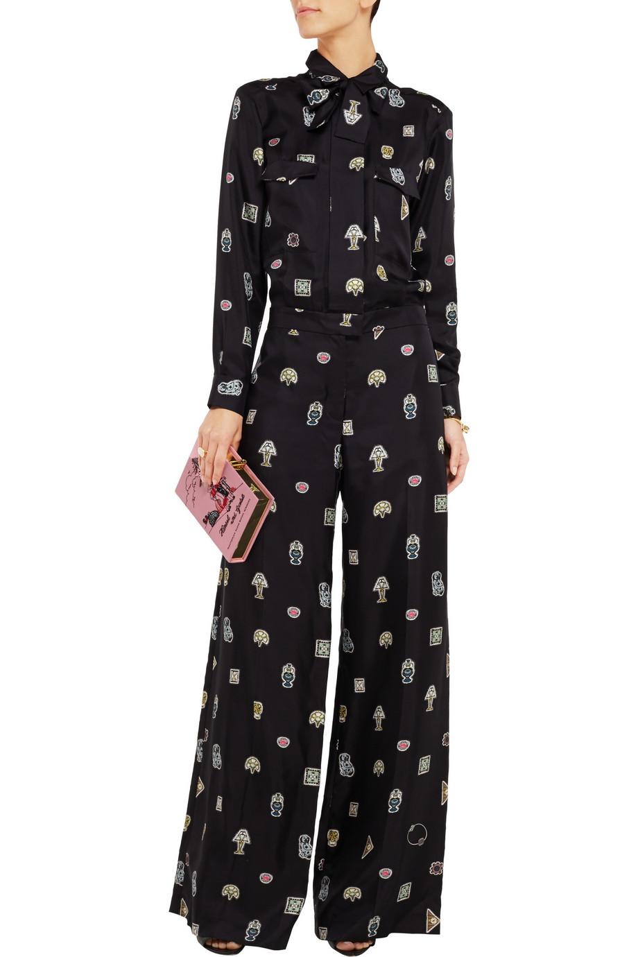 ISSA Kelse printed-silk jumpsuit