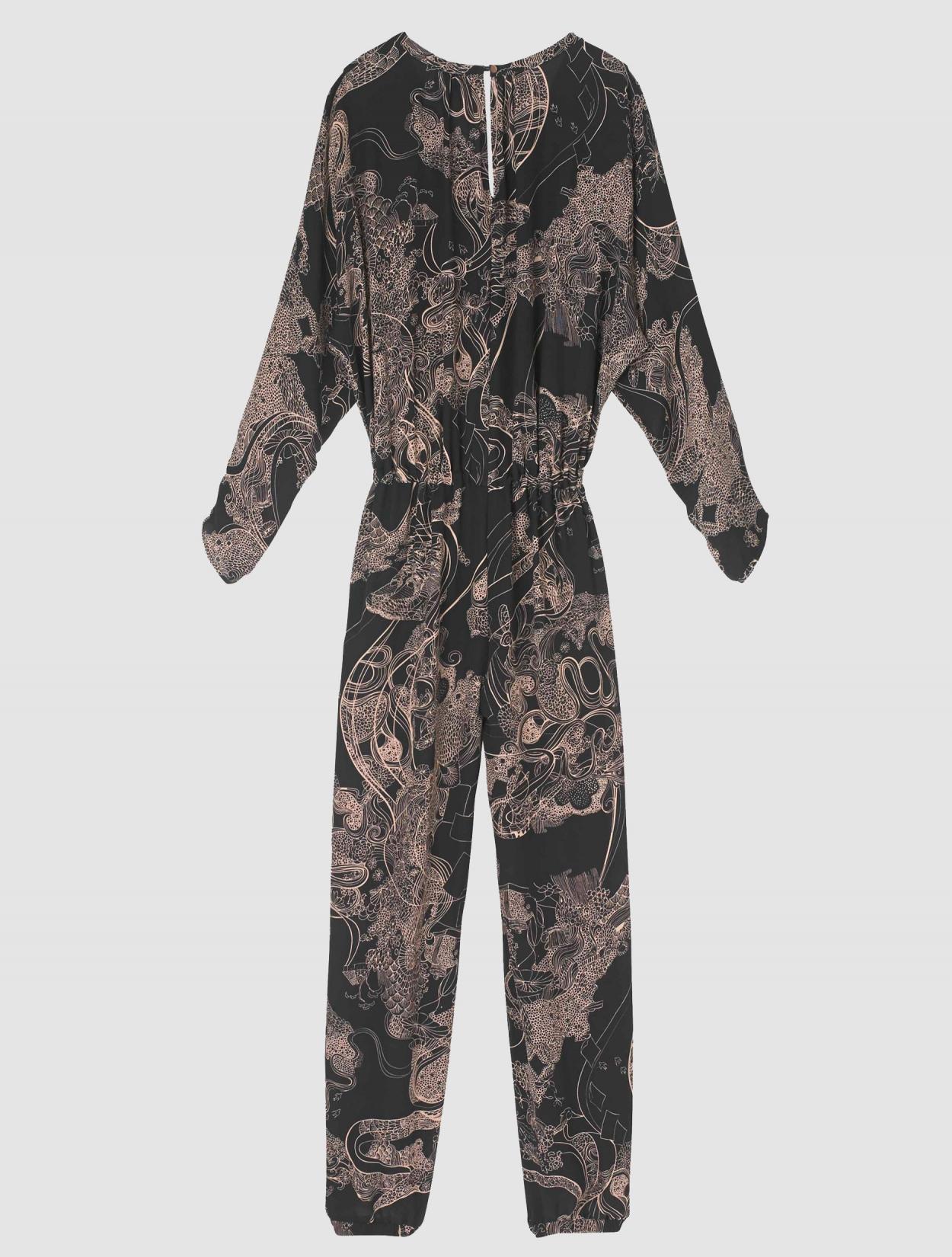 Silk Chiffon Printed Jumpsuit