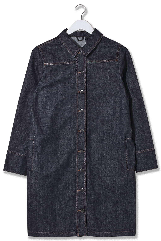 Button Front Denim Dress by Boutique