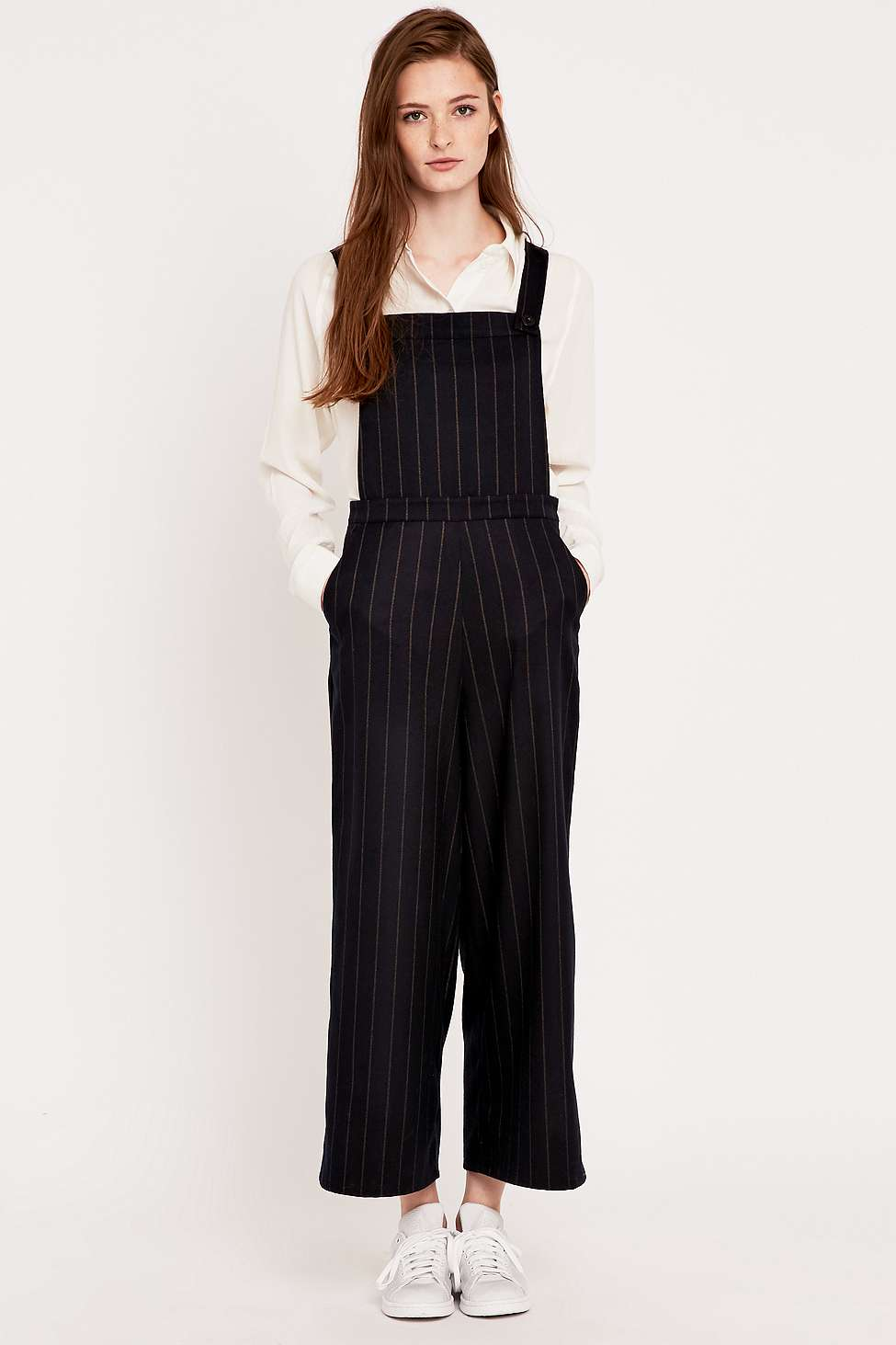 pin stripe dungaree