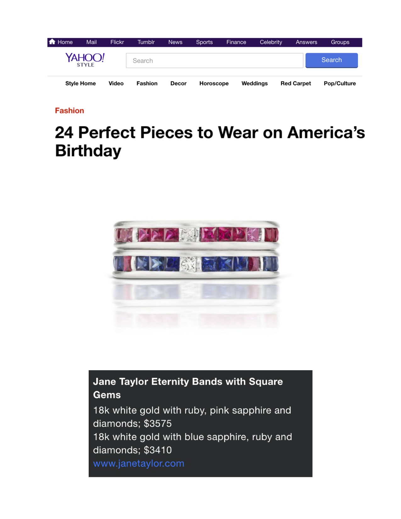 Yahoo!Style - 24 Perfect Pieces to Wear on America's Birthday - Jane Taylor Jewelry