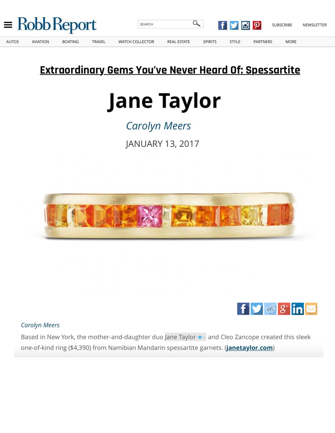 Jane Taylor Mandarin Garnet ring on RobbReport.com
