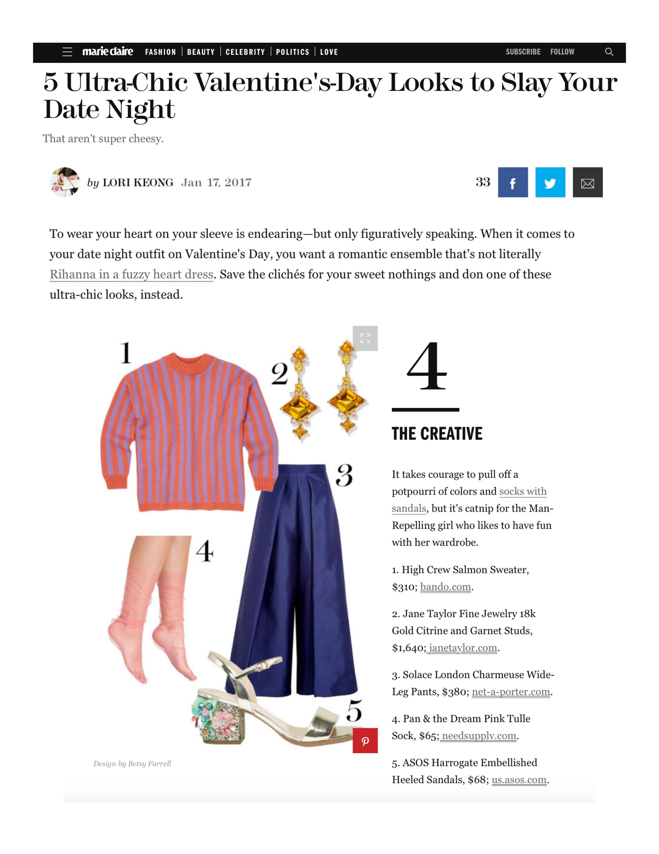 Jane Taylor Mini Frida studs and jackets with citrine on MarieClaire.com