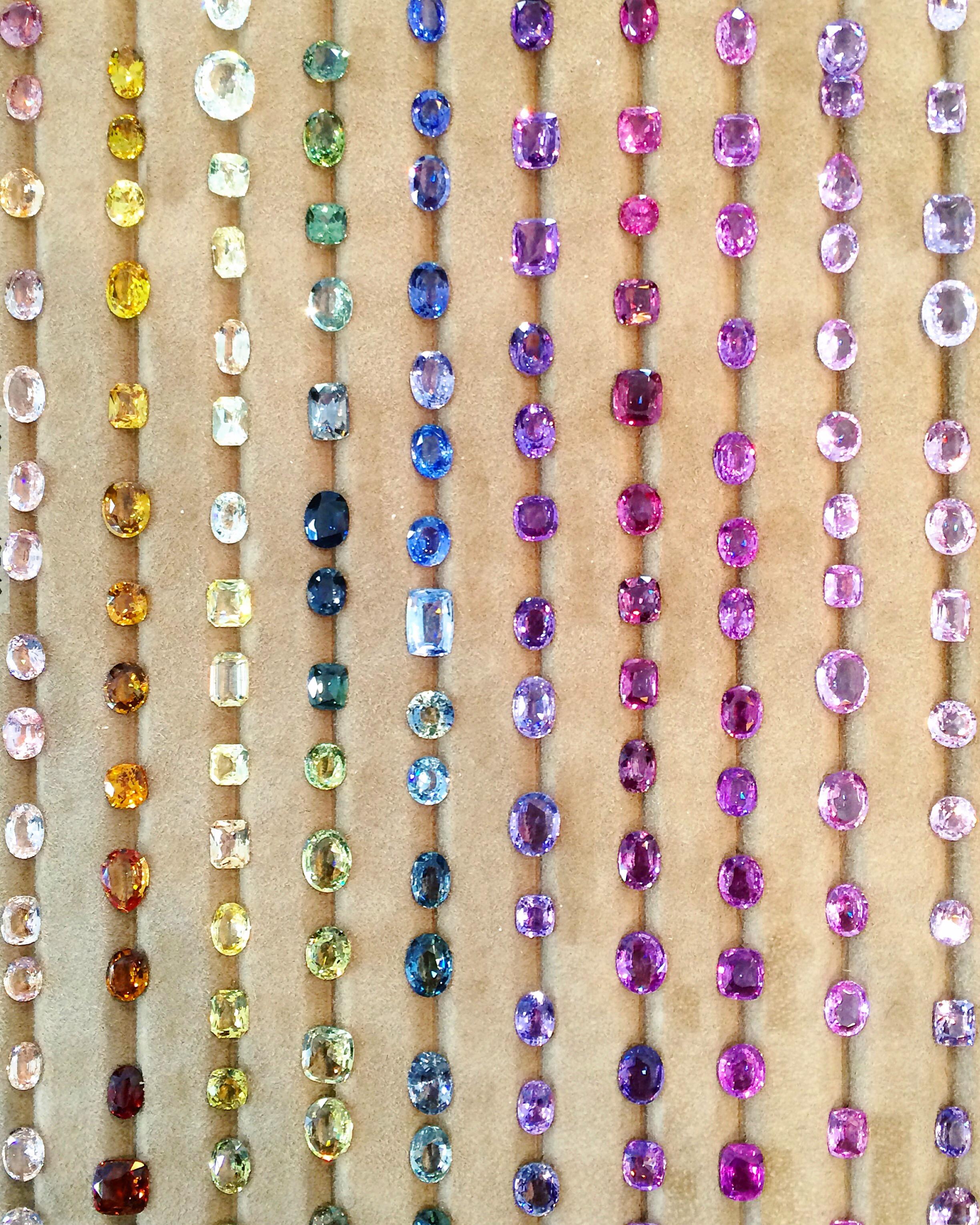 A rainbow of sapphires!