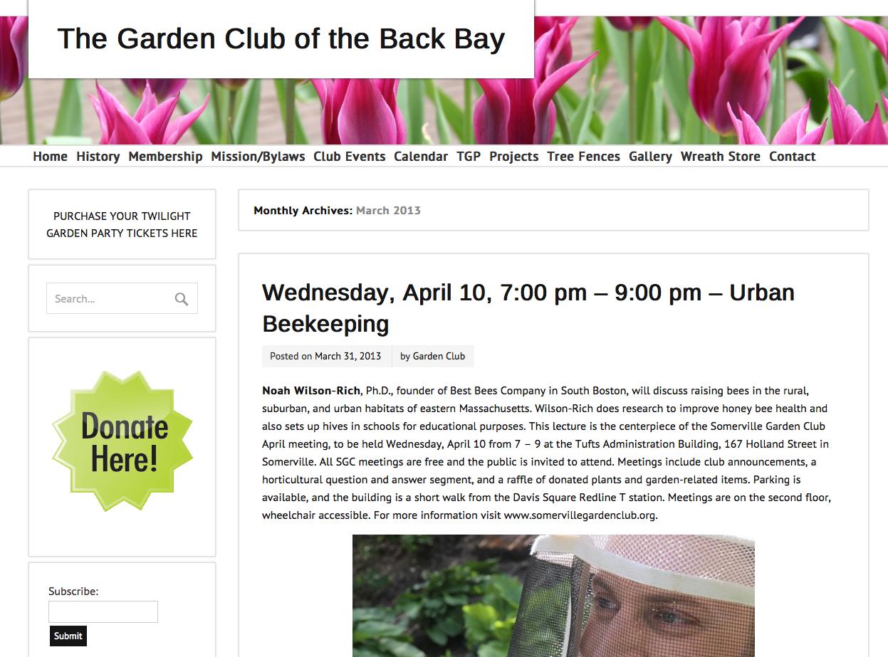 Garden Club of Back Bay