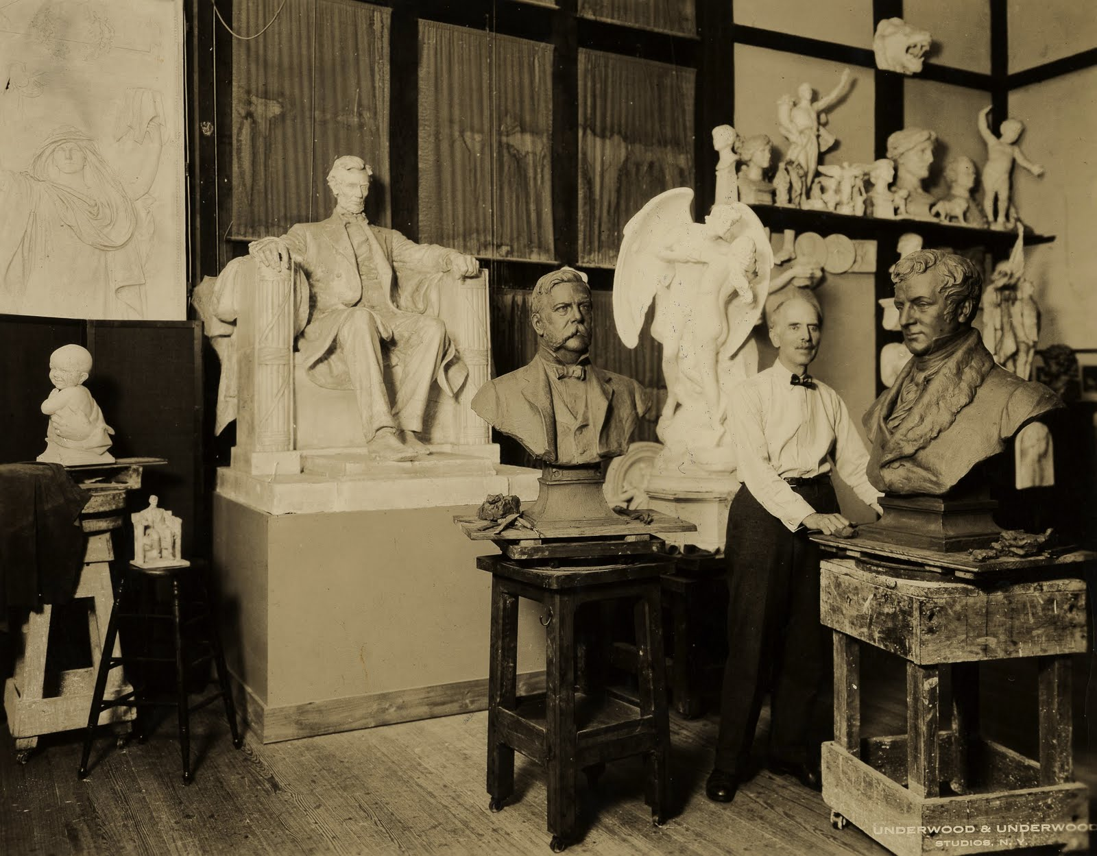 Daniel Chester French in Studio.jpg