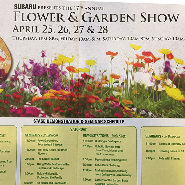 speaker, New Jersey flower & garden show 2019