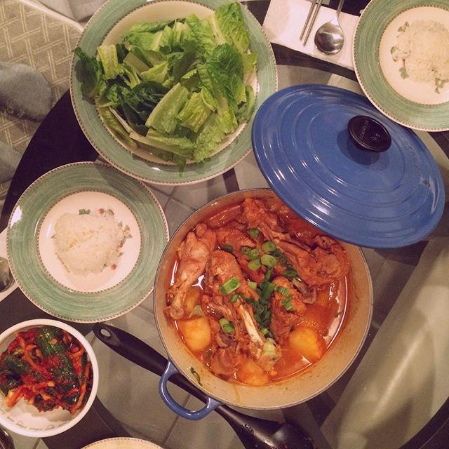 #dakdoritang / #닭도리탕 🐔. Recipe by Maangchi, again.  #저녁 #밥상 #집밥 #요리 #홈메이드 #먹스타크램 #홈쿡 #저녁 #homecook #homemade #cooking