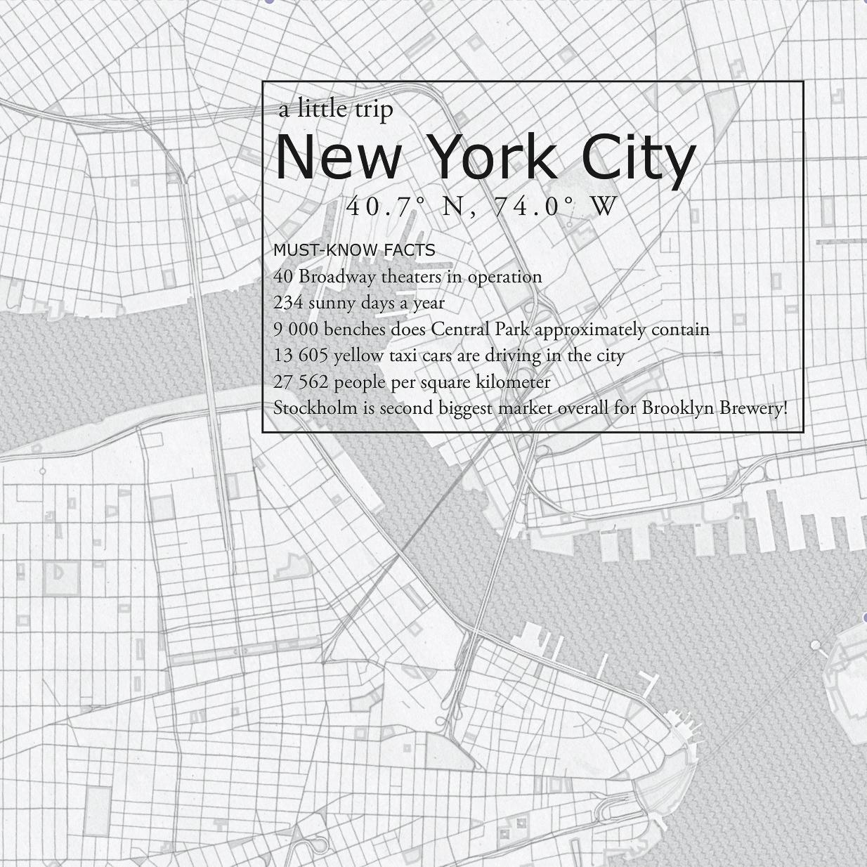 New York NYC printable mini guide city guide hello getaway