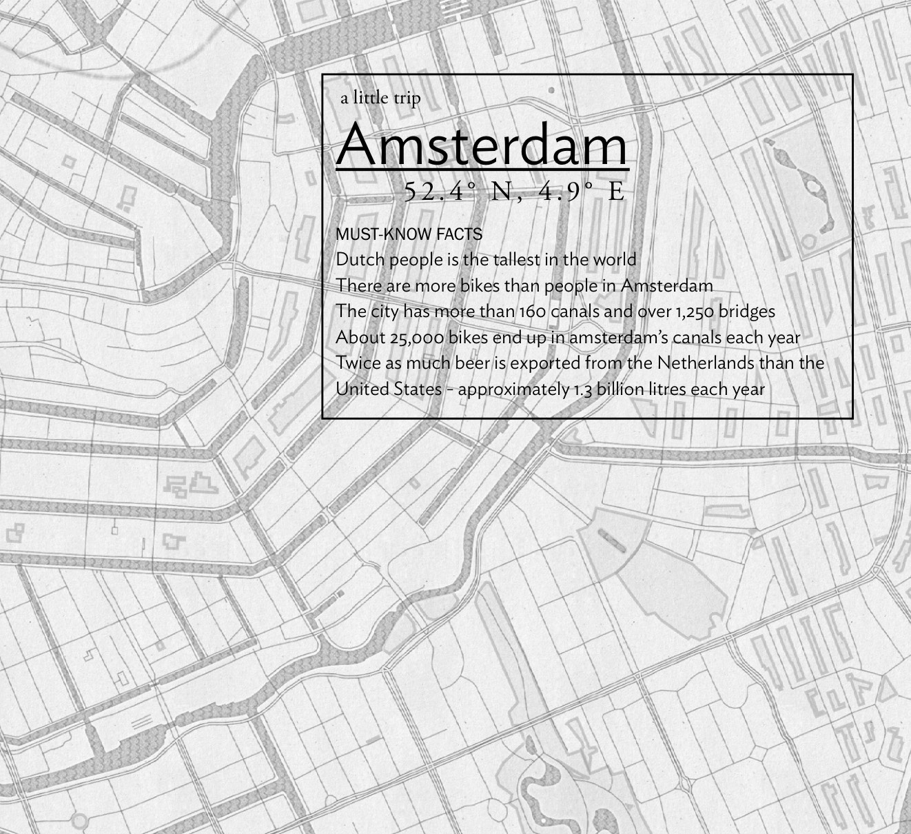 Amsterdam printable mini guide city guide hello getaway