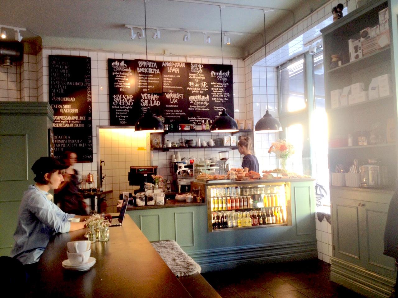 kaffeverket stockholm cafe att arbeta på hello getaway