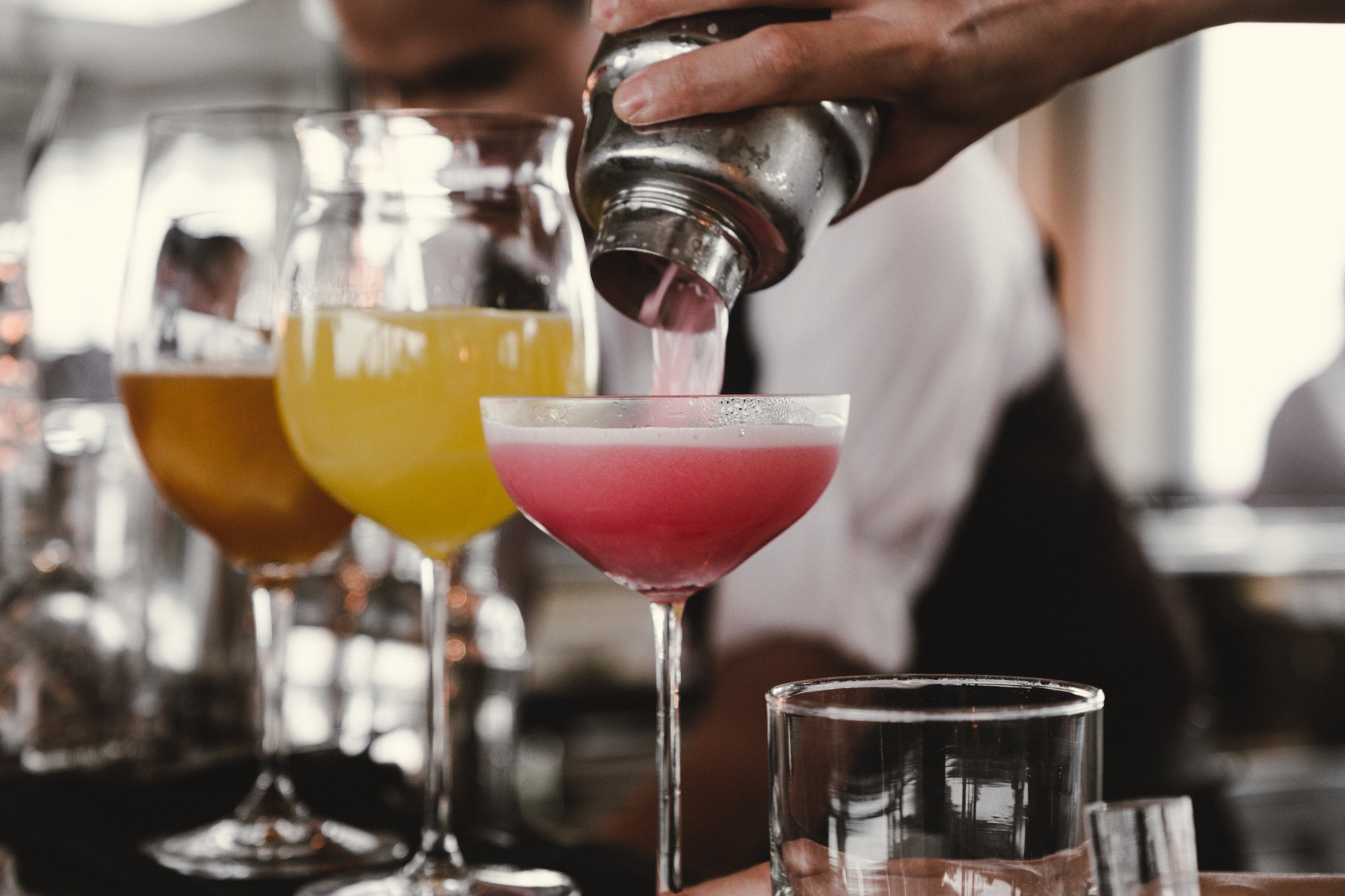 FULL CRAFT COCKTAIL BAR - full bar, cocktails, beer & winestarting at $27 per person
