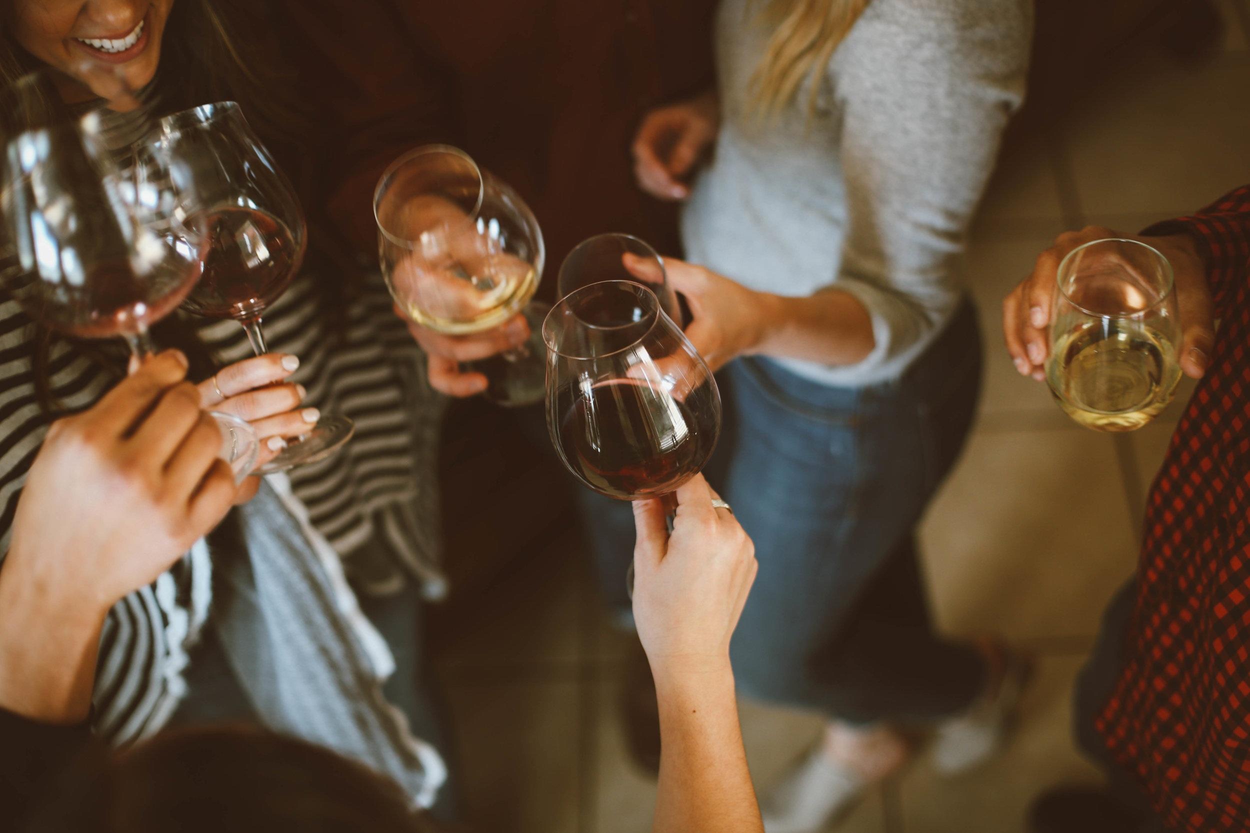 PASSED RED & WHITE WINE EVENT - white wine, red wine, water, rentals, staff