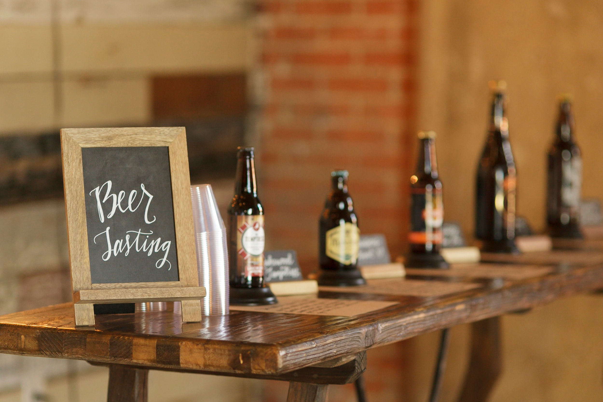 BEER TASTING BAR - variety of beer styles, rentals, expert cicerone (beer connoisseur)starting at $21 per person