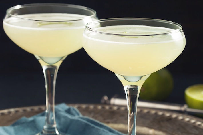 Gimlet/Daiquiri - fresh lime juice blended with cane syrup, garnished with a lime wheel