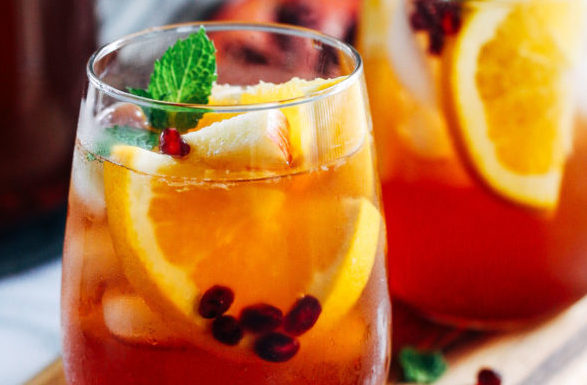 Seasonal Sangria - fresh citrus, seasonal fruit & berries, mint, garnished with fresh fruit & citrus