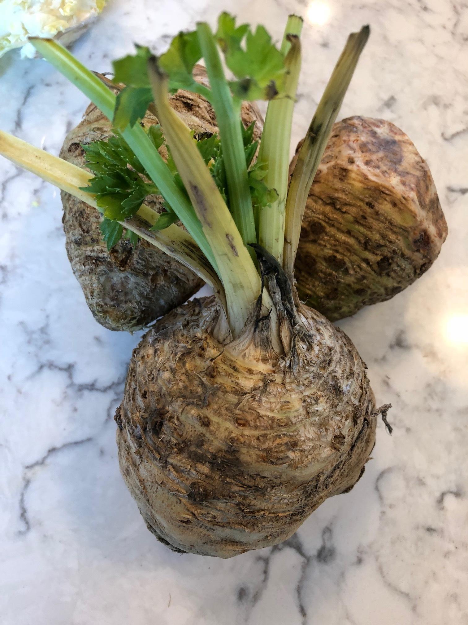 Unpeeled Celery Root