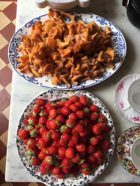 Strawberries and Mushrooms