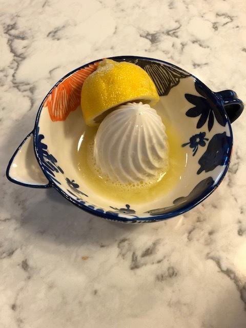 fresh squeezed lemon juice.