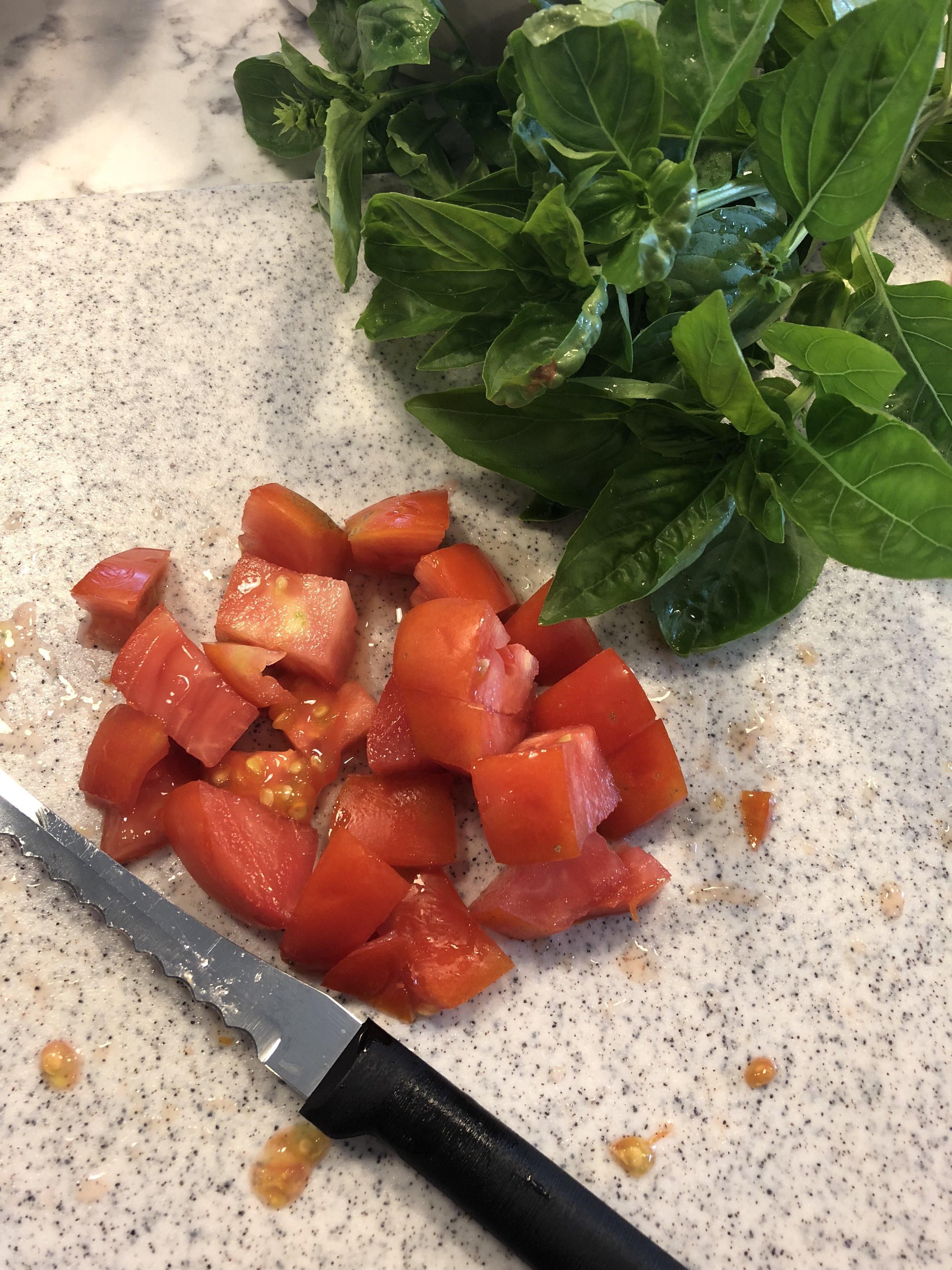Bite Size Tomato and Fresh Basil