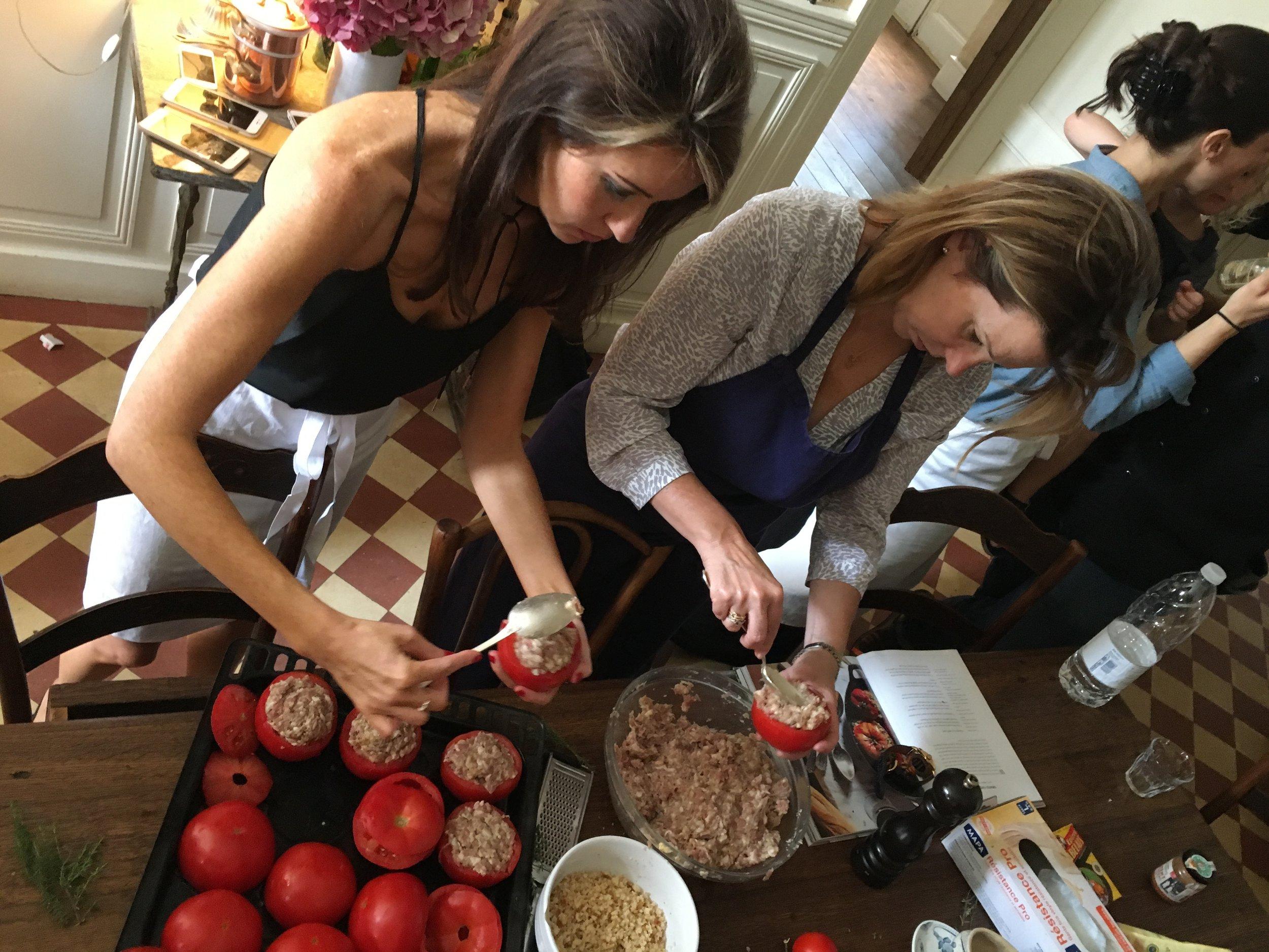 Making Stuffed Tomatoes in France 2017